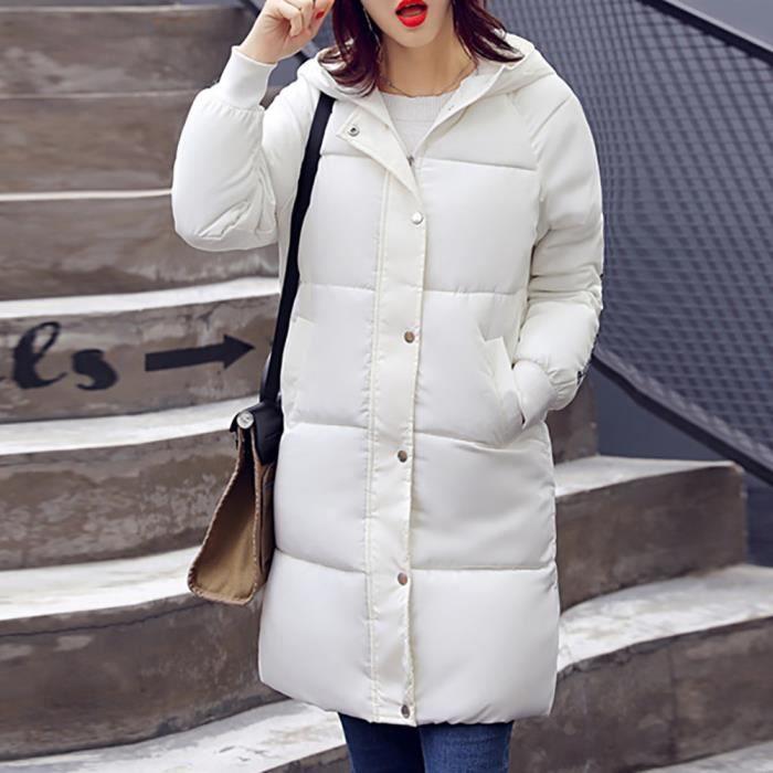 Outwear Manteau Plus Lammy Ppl5650 Le Bas Vers Zss71108423wh Femmes Occasionnels Long Mince Hiver Épais Blanc Veberge 7w1pnHqC