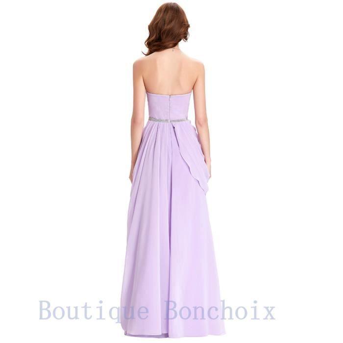6980eccc5d5 ... Robes de Soirée Cocktail Cérémonie Femme Longue Violet Bustier Robe dété