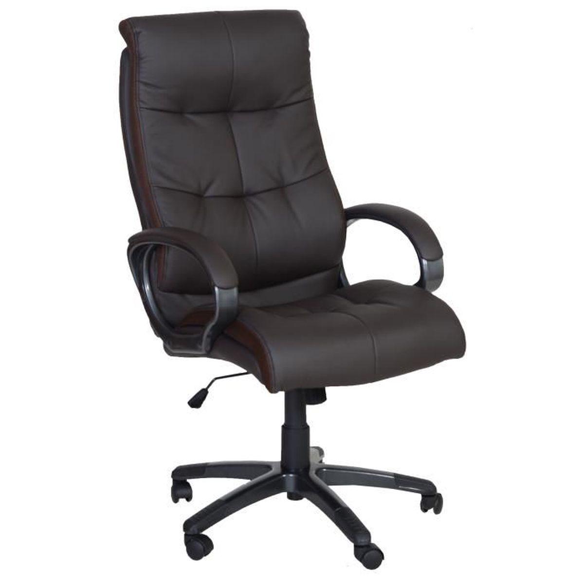 Chaise de bureau fauteuil de bureau boss marron