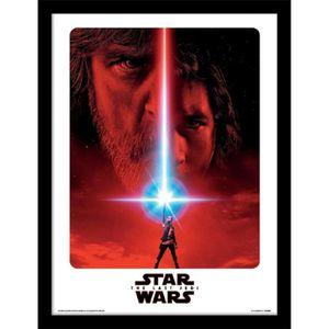 AFFICHE - POSTER Cadre Star Wars Les derniers Jedi - Affiche du tea