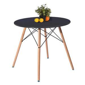 TABLE DE CUISINE  Aingoo Table à manger ronde 2 à 4 personnes - Scan