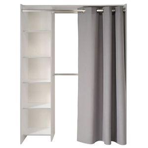 penderie avec rideau best dressing souscomble avec roulettes et rideau castorama avec meuble. Black Bedroom Furniture Sets. Home Design Ideas