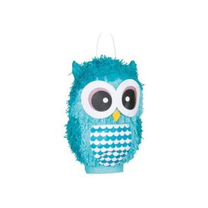 Piñata Pinata hibou bleu turqoise  à casser Bleu Tropical