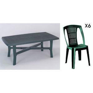 Grande table de jardin plastique - Achat / Vente pas cher
