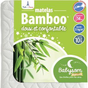 MATELAS BÉBÉ Babysom - Matelas Bébé Bamboo - 60 x 120cm - Epais