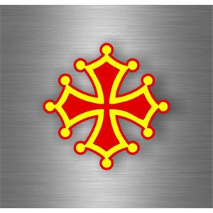 DÉCORATION VÉHICULE Autocollant sticker drapeau croix occitan r4