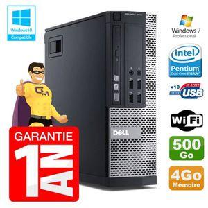 UNITÉ CENTRALE  PC Dell 7010 SFF Intel G840 RAM 4Go Disque Dur 500