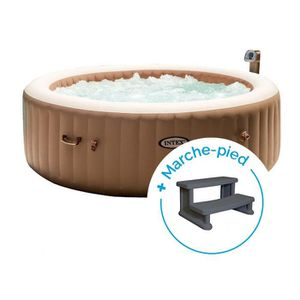 SPA COMPLET - KIT SPA Spa gonflable Intex PureSpa Bulles 6 personnes + M