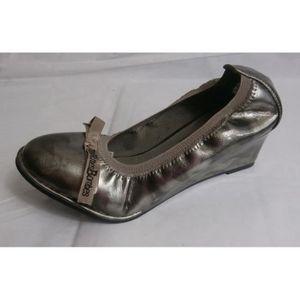 ESCARPIN chaussure compense verni gris les ptites bombes