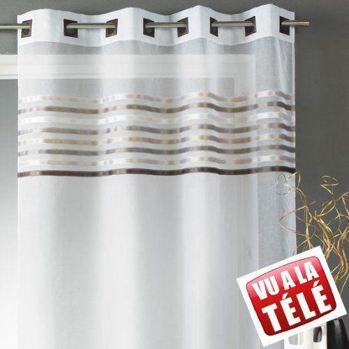 Voilage -Rose -140x260cm - 100% Polyester - 8 Œillets carrés 4cm -à l'unité - Prêt-à-poserVOILE - VOILAGE