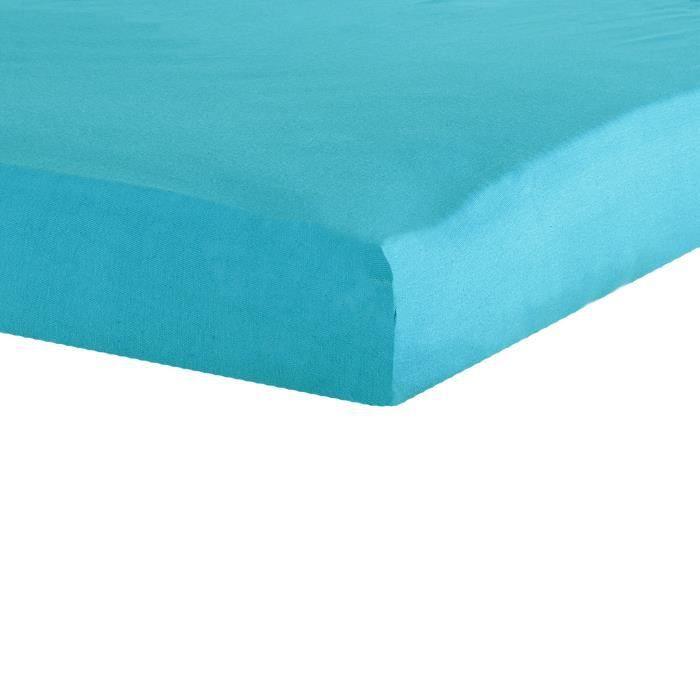 TROIS KILOS SEPT Drap housse - 70x140 cm - Turquoise
