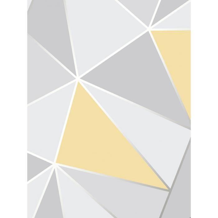 apex g om trique fond d 39 cran jaune et gris fine decor fd41991 achat vente papier peint apex. Black Bedroom Furniture Sets. Home Design Ideas
