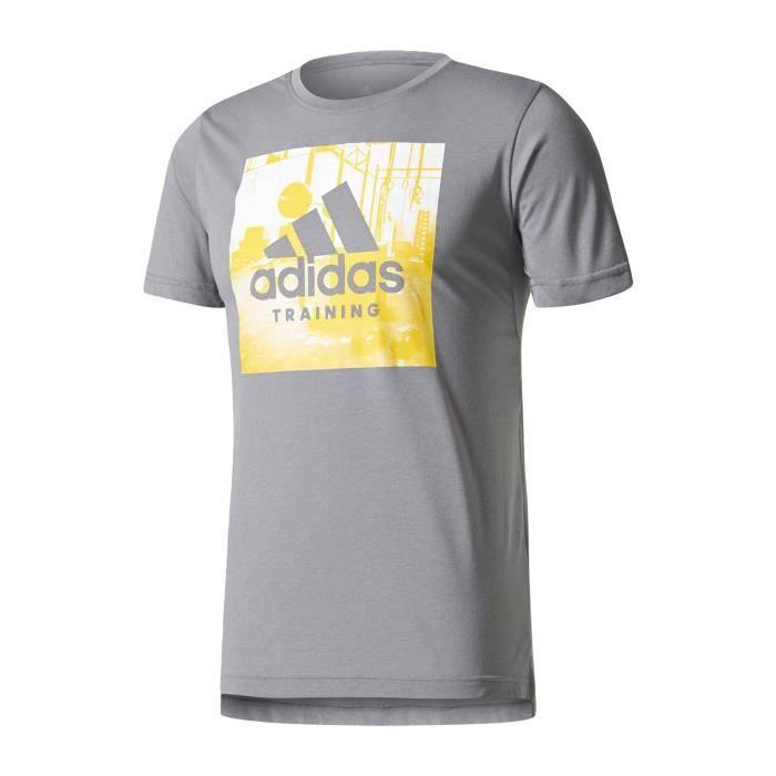 Gris T Shirt Logo Adidas Manches Performance Shirts Freelift HFgxw8