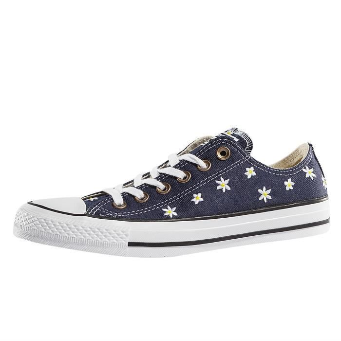6c3299de44179 Converse Femme Chaussures   Baskets Chuck Taylor All Star Low Bleu ...