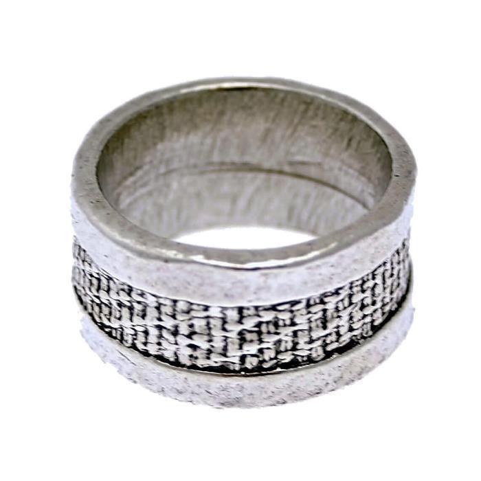 LILI la PIE Bague métal argenté collection MATIERE