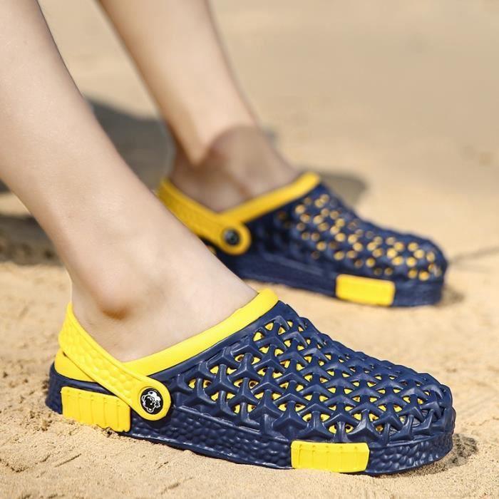Korean Simple respirante évider Chaussures Sandales Casual hommes 7djkSNFex