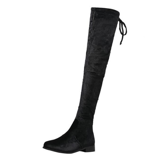 BOTTE HEE GRAND Bottes Cuissarde Femme Genous Plates
