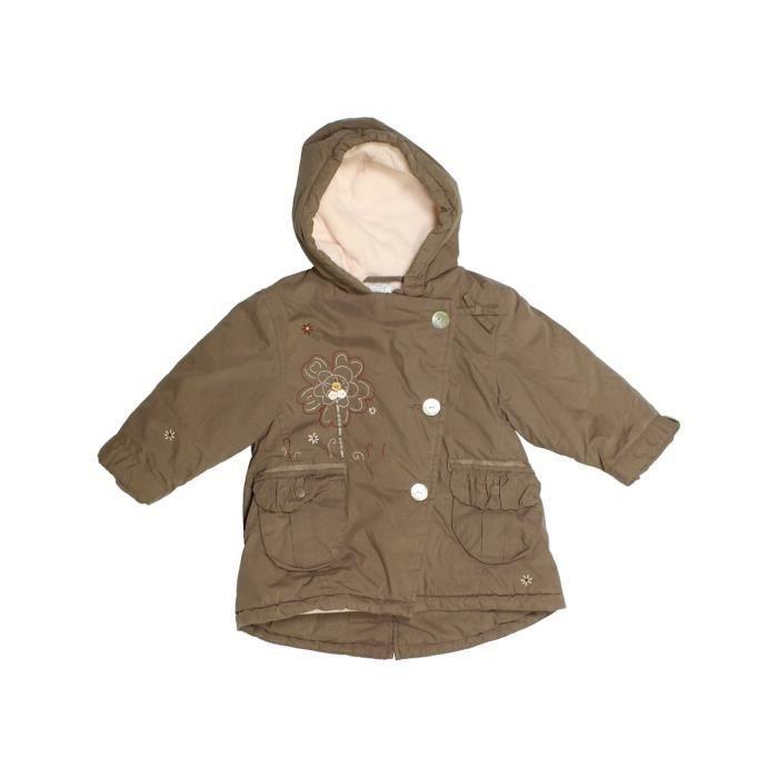 c9984009407b7 Manteau bébé fille CADET ROUSSELLE 12 mois marron hiver - vêtement bébé   1105878