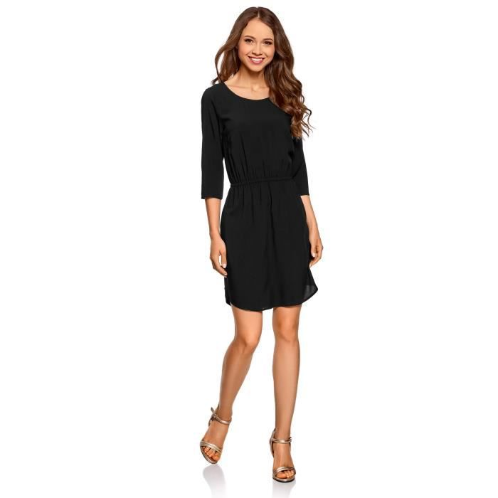 Femmes manches 3-4 Viscose Robe 2HCJUE Taille-38