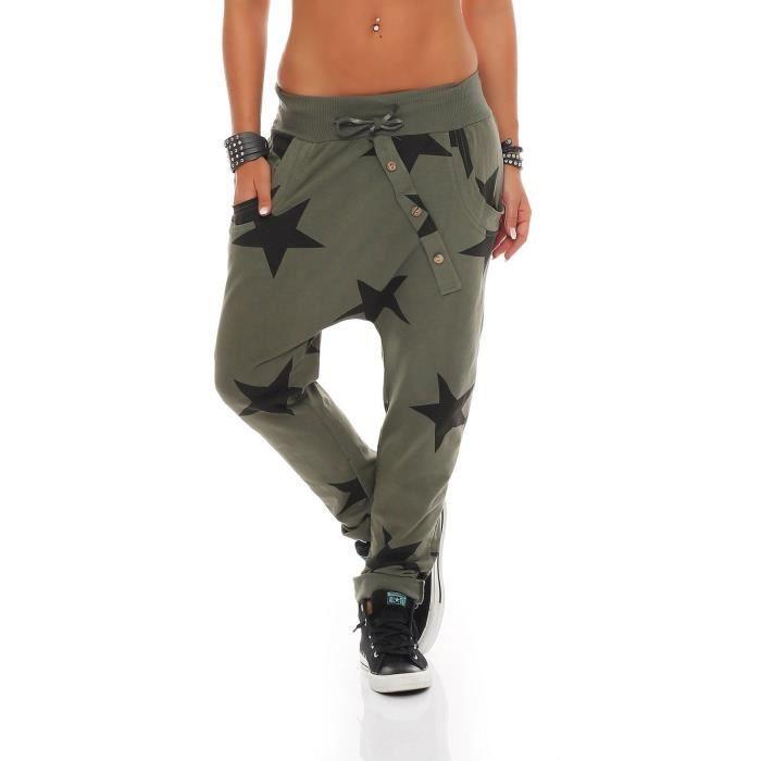 femmes zarmexx pantalons de survêtement baggy petit ami avec bouton face pantalons  de loisirs jogging pantalons coton t 3ENWUY Taill d3e2ae271c0