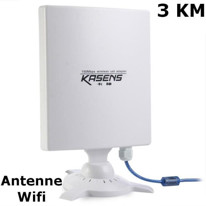 Antenne wifi usb tr s longue port e de 3 km 150mbps 80 dbi prix pas cher cdiscount - Routeur wifi longue portee ...