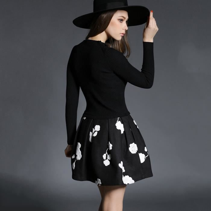 Robe femmes chandail pull couture svelte