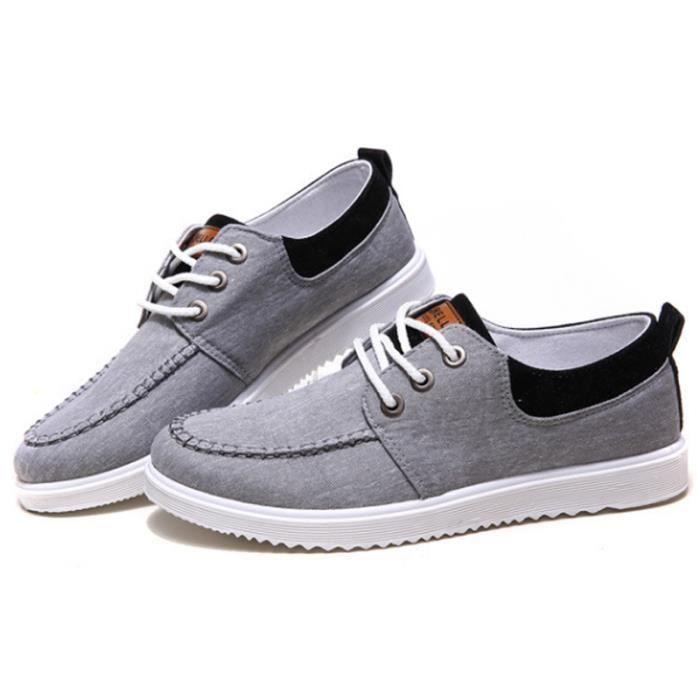Populaire Quatre XZ115Gris41 BXFP Toile En Basses Hommes Chaussures Saisons wOv6Hv