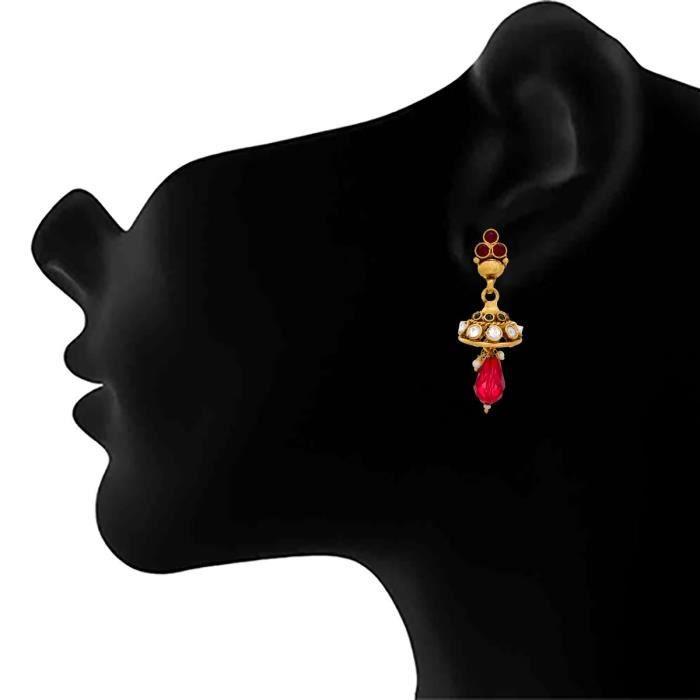 Exquis et ethnique des femmes Jfl- un gramme dor plaqué de pierre Designer Set Collier pour et. A7JNZ