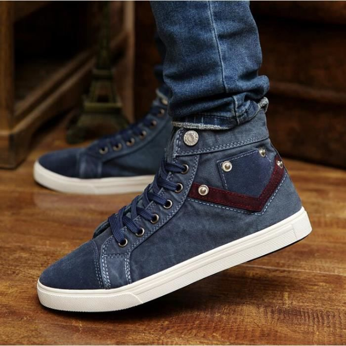 chaussures montantes Mode Chaussure Homme Basket Homme Skate Shoes mCAnRmeW