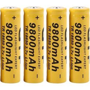 BATTERIE DOMOTIQUE 4pcs 3.7 v 18650 9800mah Li-ion batterie rechargea