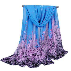 c0fbd2027d879 ECHARPE - FOULARD Mousseline de soie douce foulard imprimé floral gr
