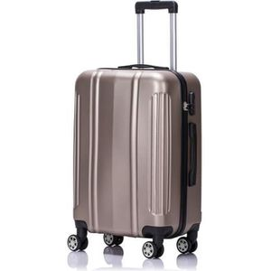VALISE - BAGAGE LYS - Valise Cabine rigide Taupe 55x35x23 cm 4 Rou