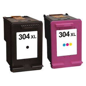 CARTOUCHE IMPRIMANTE PACK DE 2 HP COMPATIBLE HP DeskJet 3720– HP304XL (