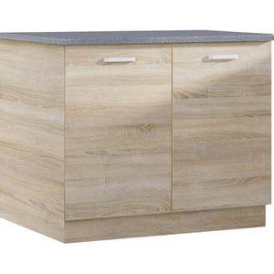 meuble bas cuisine 100 cm achat vente meuble bas cuisine 100 cm pas cher soldes d s le 10. Black Bedroom Furniture Sets. Home Design Ideas
