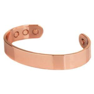 BRACELET - GOURMETTE Bracelet jonc cuivre 100% 6 aimant magnetique 3000