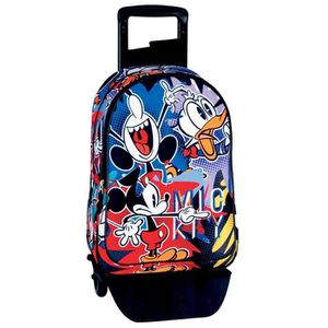 CARTABLE Sac à dos à roulettes Mickey 42 CM Madness trolley