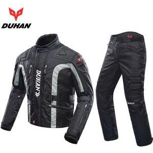 363f4c7d112 BLOUSON - VESTE DUHAN Hommes Moto Veste + Protecteur Moto Pantalon