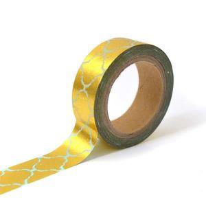 MASQUAGE - MASKING TAPE TOGA Masking tape - bleu frise orientale or - 10m