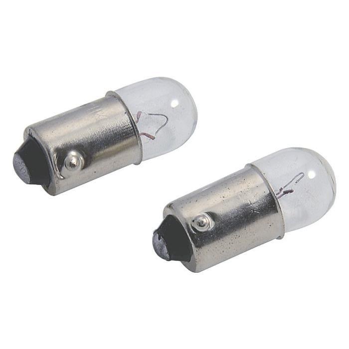 AUTOBEST Lot De 2 Ampoules Blanches (Ba 9S) 12V, 4W