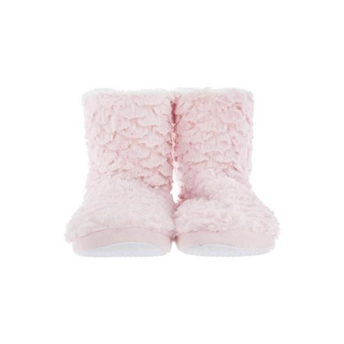 Chaussons fausse fourrure rose 36/37