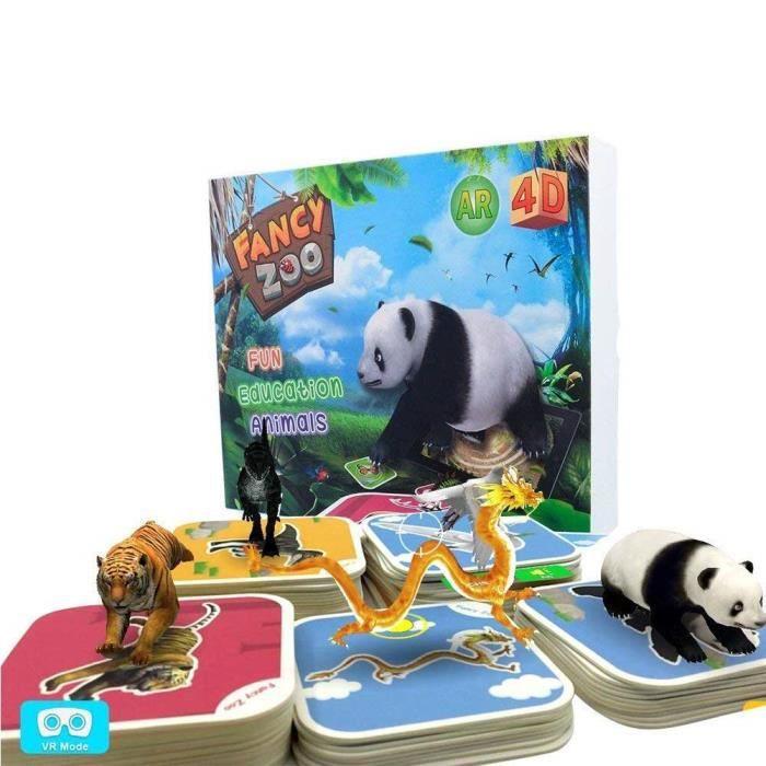 CASQUE RÉALITÉ VIRTUELLE edu jouets zoo animal cartes de fantaisie 4d augme