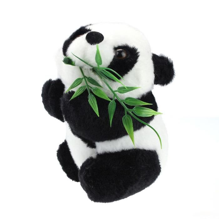 Bébé Enfant  de Noël de jouet de poupée d'animal souple mignon doux de Panda noir et blanc