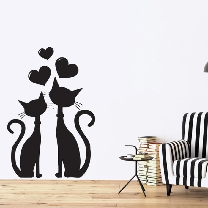 stickers chat achat vente stickers chat pas cher cdiscount. Black Bedroom Furniture Sets. Home Design Ideas