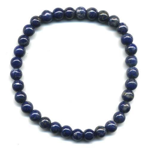 Bracelet en lapis lazuli boules 6mm