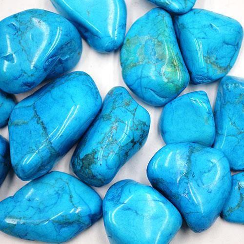 pierre roul e polie howlite bleu 2 3cm qualit sup rieure achat vente pierre vendue seule. Black Bedroom Furniture Sets. Home Design Ideas