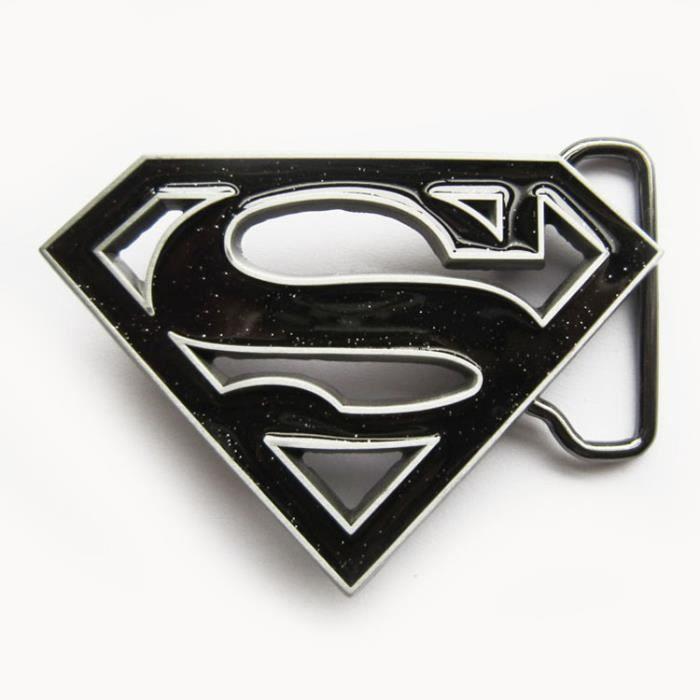 cc3d41621e3 Boucle de ceinture superman noir homme femme neuf Noir - Achat ...