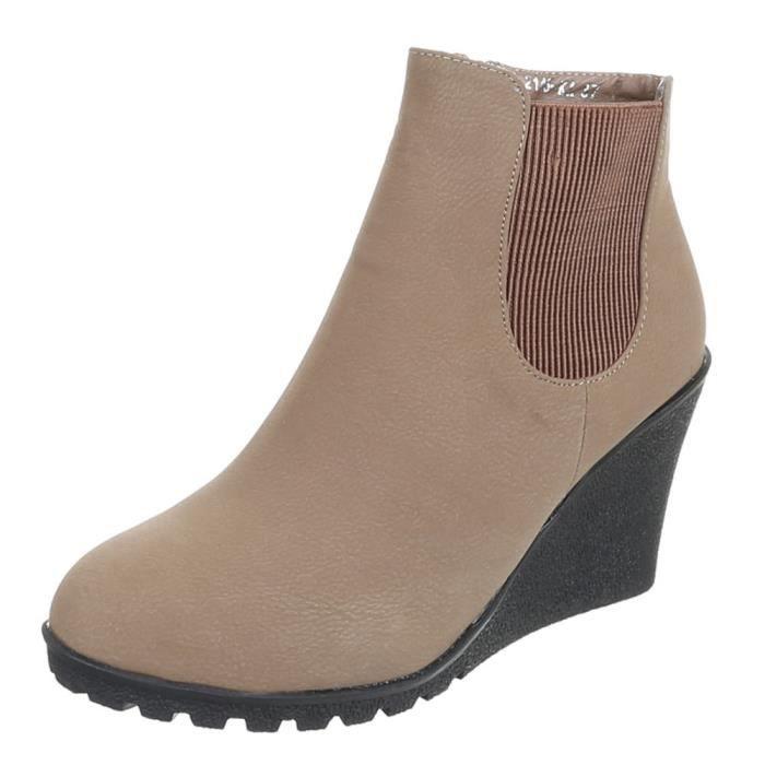 Chaussures femmes Bottine Liecht DOUBLÉ marron pOpyiIl3ra