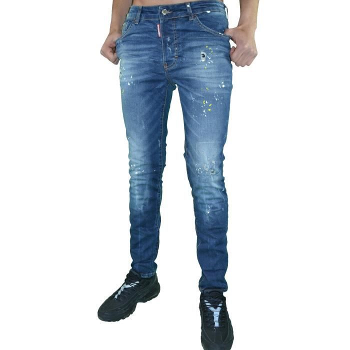 cbc66767ef1e0 Dsquared2 - Jean - Homme - Ds 02 Cool Guy Jean - Skinny Fit - Bleu ...