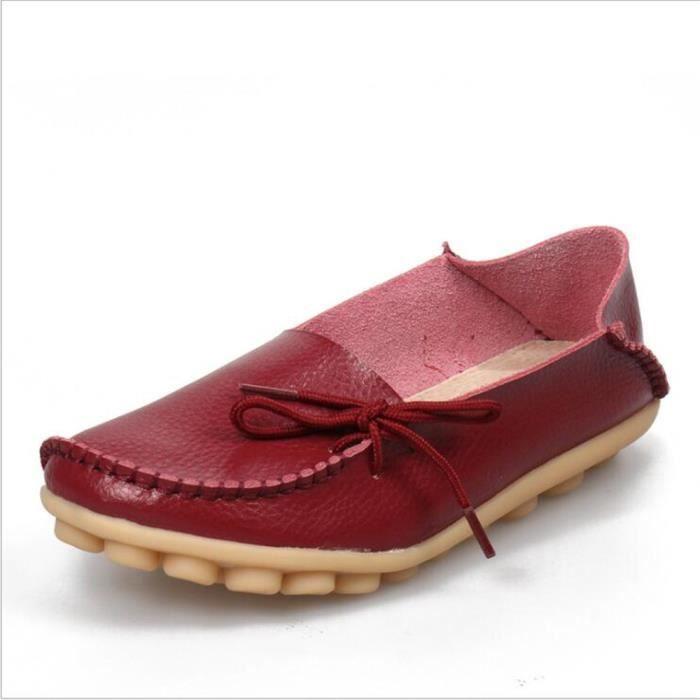 Loafer femmes Marque De Luxe Nouvelle arrivee Grande Taille chaussure Meilleure Qualité chaussures plates Confortable