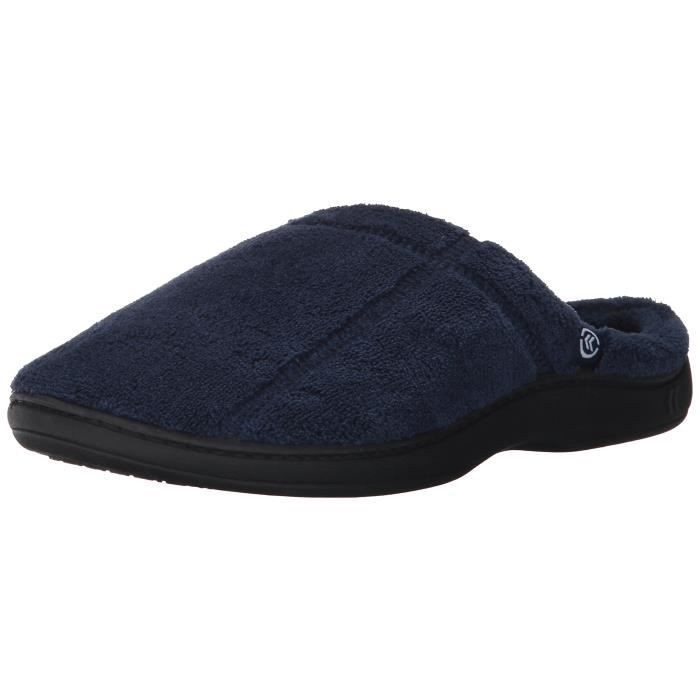 Men's Microterry Hoodback Slippers V8CK3 Taille-L rMleAsGLlH